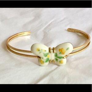 Vintage AVON porcelain butterfly bracelet signed